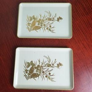 *Set Of 2* VINTAGE Otagiri Japan butterfly trays